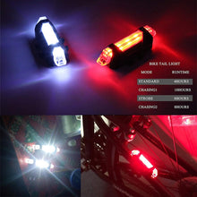 Load image into Gallery viewer, Zacro Bike Bicycle light LED Taillight Rear Tail Safety Warning Cycling Portable Light, USB Style Rechargeable or Battery Style