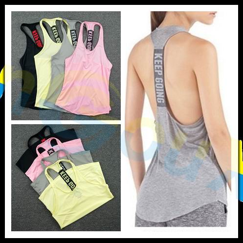 Summer women's Gym sports Sleeveless shirt Fitness running Tank tops workout Yoga singlets Quick dry Tunics