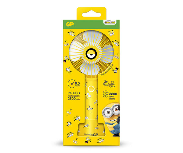 Limited Edition GP BA-NA-NA USB Portable Fan - Lightning Yellow