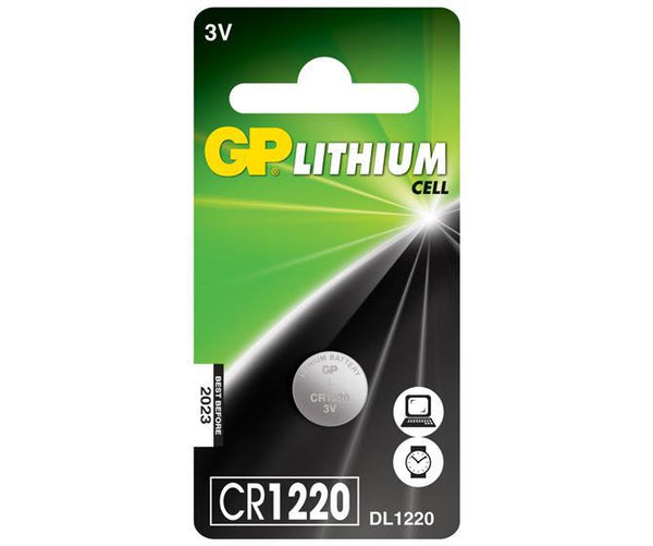 GP Button Cell - Lithium CR1220-GP Batteries Hong Kong