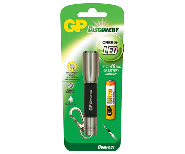 GP Discovery CREE LED Mini Torch - Sliver-GP Batteries Hong Kong