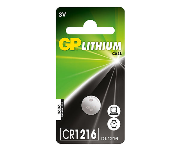 GP Button Cell - Lithium CR1216-GP Batteries Hong Kong