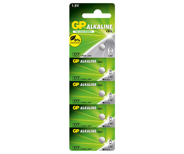 GP Alkaline Button Cell 177F Mercury Free-GP Batteries Hong Kong