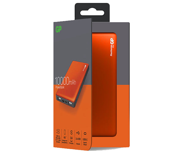 GP M-Series PowerBank MP10MA 10000mAh-GP Batteries Hong Kong