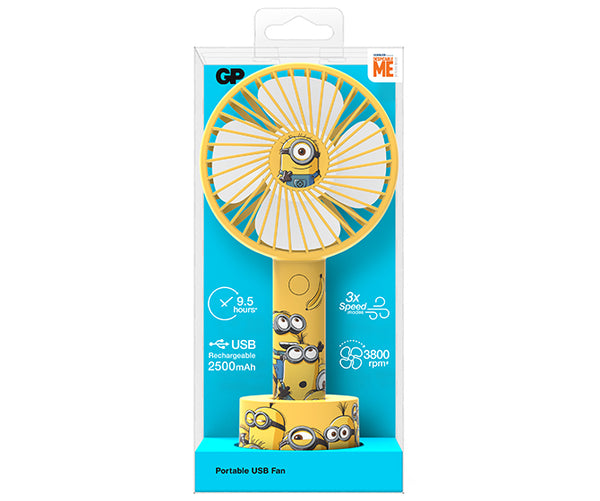 GP x Minions Portable USB Fan-GP Batteries Hong Kong