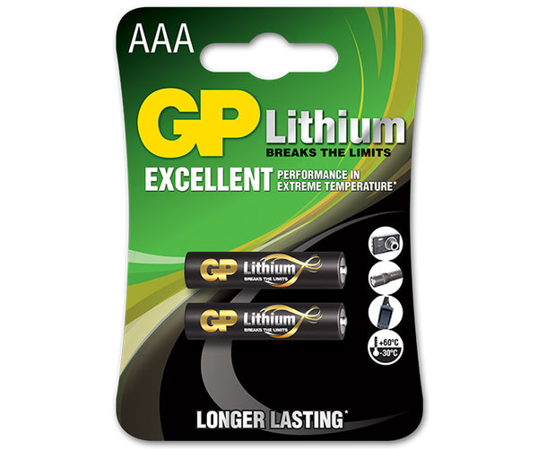GP Lithium AAA-GP Batteries Hong Kong