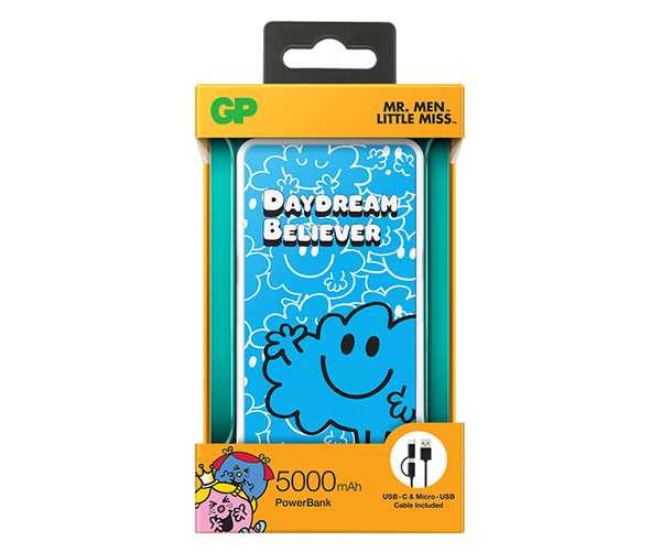 GP x MR. MEN™ LITTLE MISS™ - Mr. Daydream 5000mAh PowerBank-GP Batteries Hong Kong
