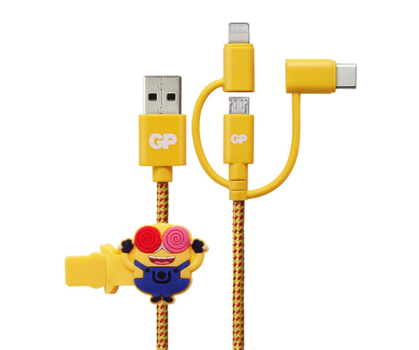 "GP ""BA-NA-NA"" 1M 3 in 1 Charging Cable"