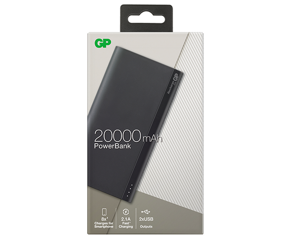 GP B-Series PowerBank B20A 20000mAh - Charcoal Grey