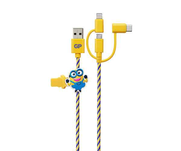 "Limited Edition GP ""BA-NA-NA"" 1M MFi Certified 3 in 1 Charging Cable"
