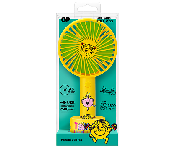 GP x MR. MEN™ LITTLE MISS™ Portable USB Fan-GP Batteries Hong Kong