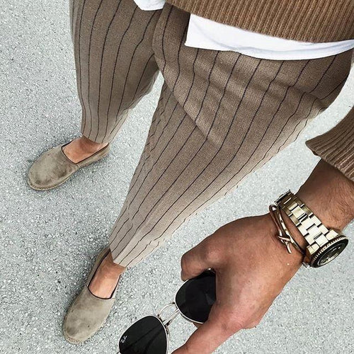 Men's Casual Street Striped Pants