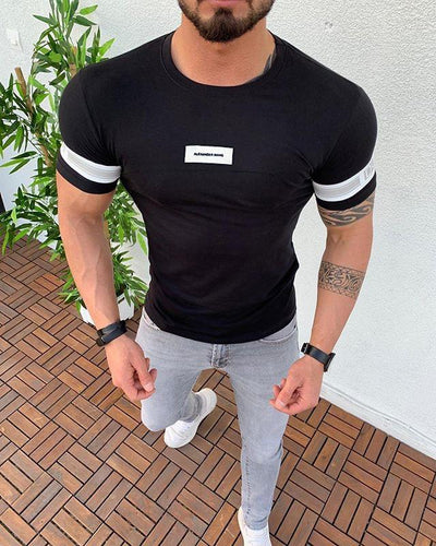 Men's Summer Solid Color Casual T-Shirt