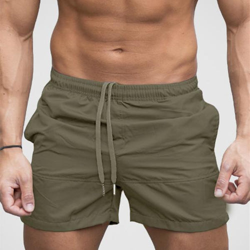 Men's Fashion Casual Solid Color Beach Shorts