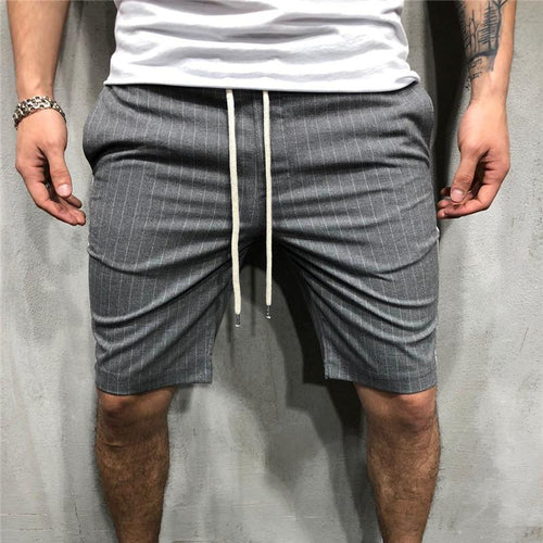 Casual Drawstring Loose Strip Short Pants