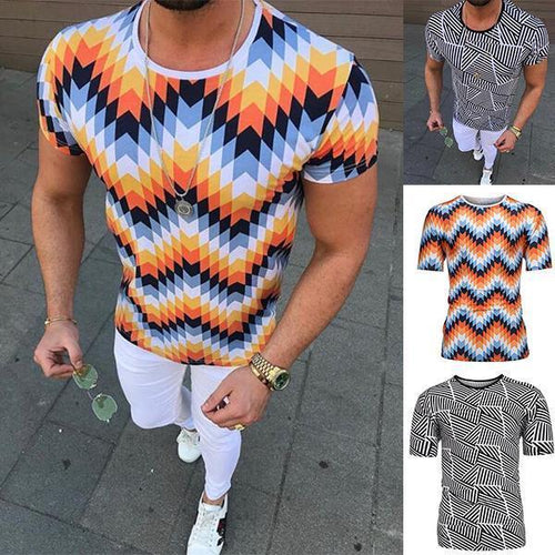 Men's Fashion Bohemian Style Short-Sleeved Shirt