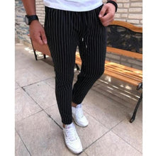 Load image into Gallery viewer, Men's Fashion Solid Color Striped Slim Pants