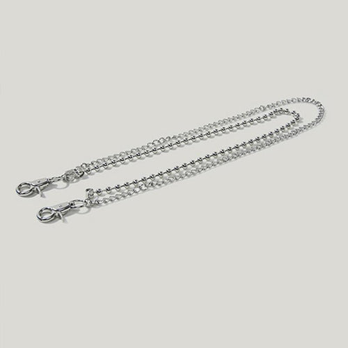 Hip-Hop Aluminum Double-Layer Chain Back Button Metal Punk Jewelry