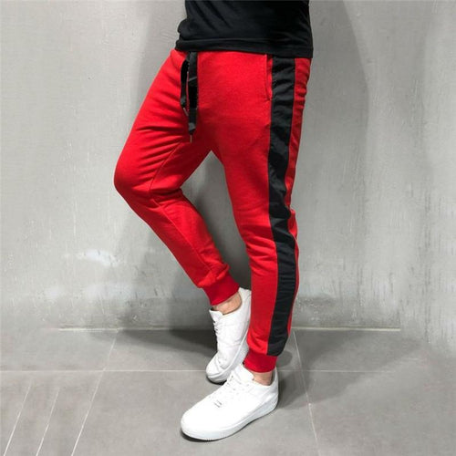Fashion Men's Stitching Casual Trousers