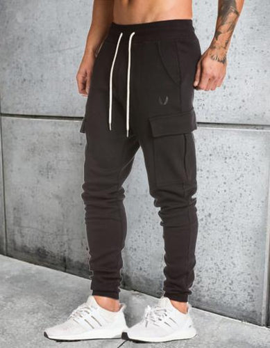 Men's Camouflage Stretch Sweat Slim Fit Workout Fitness Training Trousers