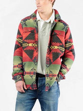 Load image into Gallery viewer, Retro Color Patch Pocket Long Sleeve Jacket