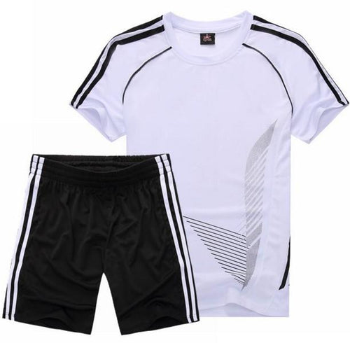 Short-Sleeved Running Football  Breathable Quick-Drying SUITS