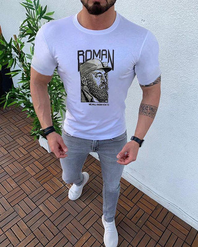 Men's Summer Large Print Casual T-Shirt