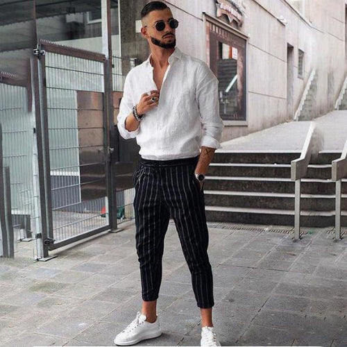 2019 Spring And Summer New Men's Sports Street White Shoes