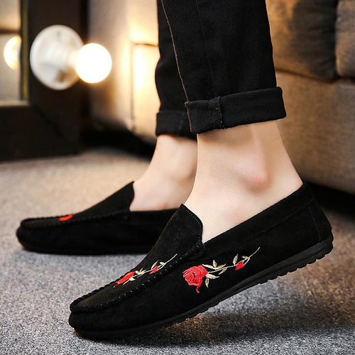 New Men's Casual One Foot Breathable Shoes