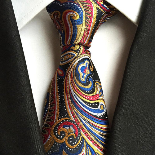Fashion Jacquard Paisley Cashew Flower Ties