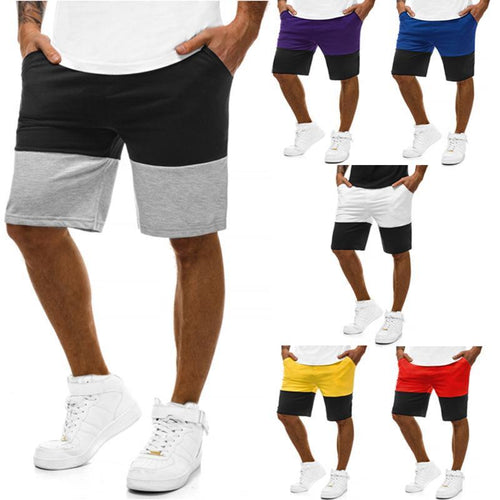 Men's Trousers Summer Casual Sports Slim Color Matching Jogging Five Points Shorts