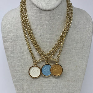 Intaglio Necklace - 18""