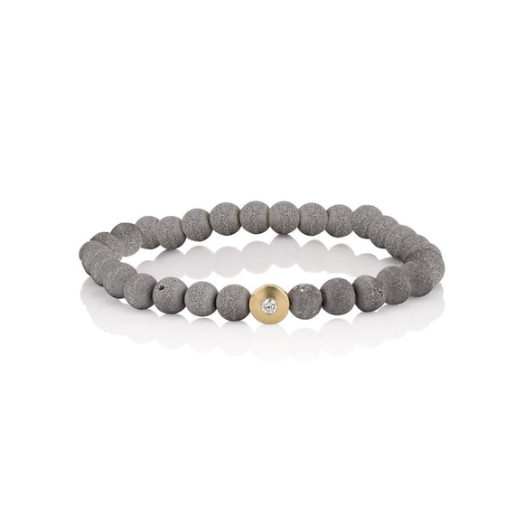 North Star Grey Druzy Bracelet