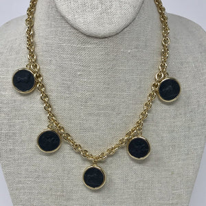 Reversible Intaglio Necklace: Onyx/ Mother of Pearl