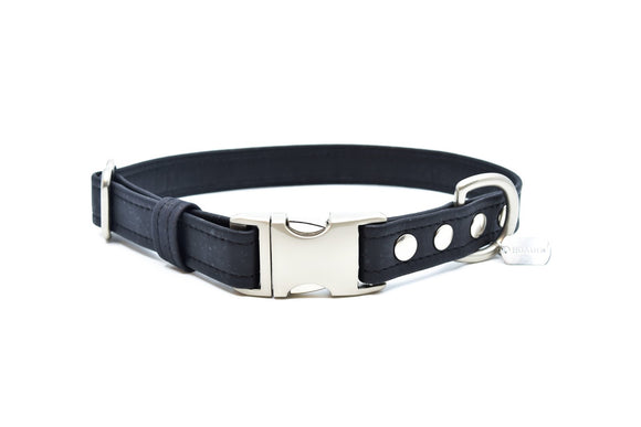 Black Cork Dog Collar