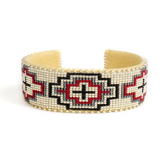 Wren Red Glass Cuff