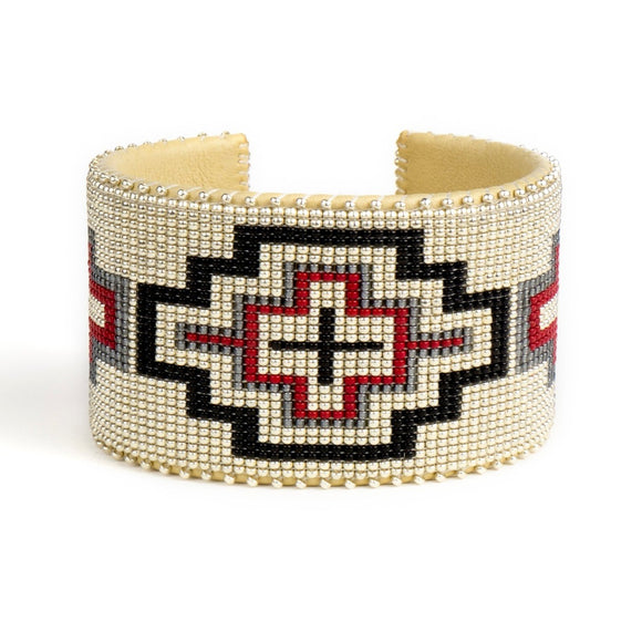 Wren Red Glass Cuff X Large