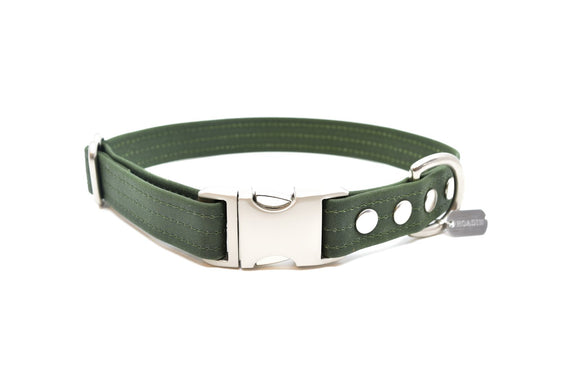 Forest Waxed Canvas Dog Collar