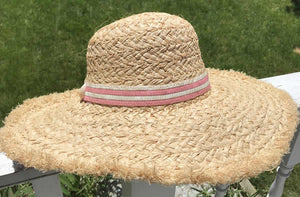 Fringed Floppy Straw Hat