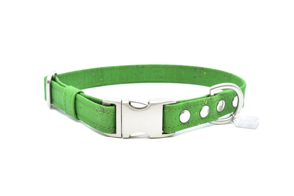 Green Cork Dog Collar