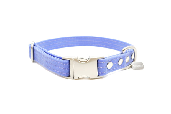 Lavender Waxed Canvas Dog Collar