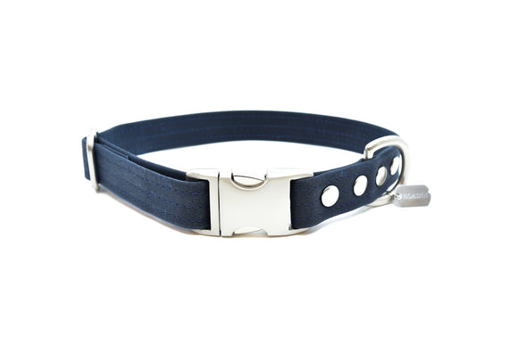Midnight Waxed Canvas Dog Collar