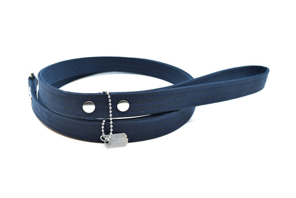 Midnight Waxed Canvas Dog Leash