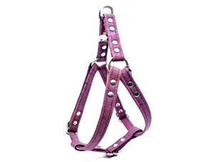 Purple Cork Dog Harness
