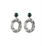 Howite Open Oval Earrings