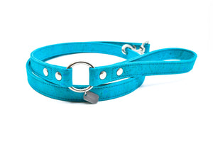 Teal Cork Dog Leash