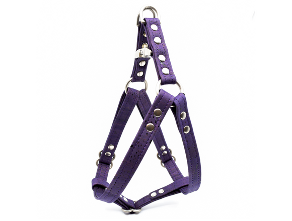 Violet Cork Dog Harness
