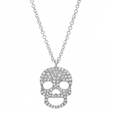 Skull Pendant In White Gold