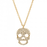 Skull Pendant In Yellow Gold