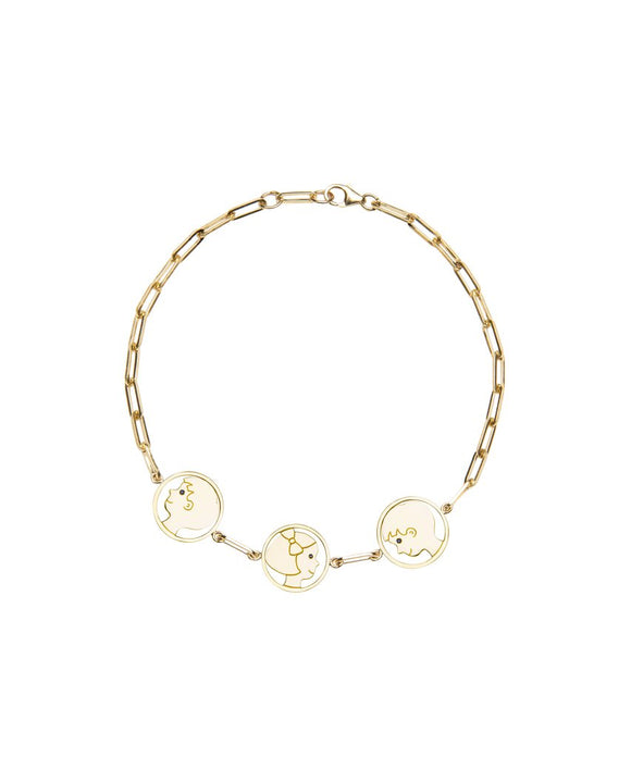 Delicate Three Silhouettes Bracelet